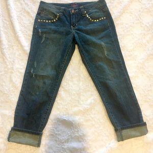 2B BEBE cropped jeans